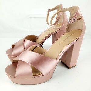 Who What Wear Pink Sydney Platform 4.5in High Heel